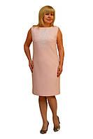 Платье с вышивкой розовое - Модель Л269-1, фото 1