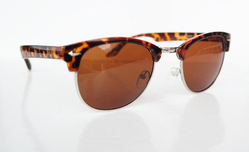 Очки Clubmaster с поляризацией леопардовые