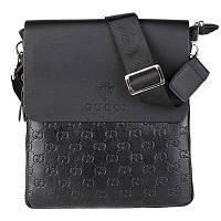 Мужская сумка Gucci, черная Гуччи (УЦЕНКА, ремешок) ( код: IBM021B-1 )