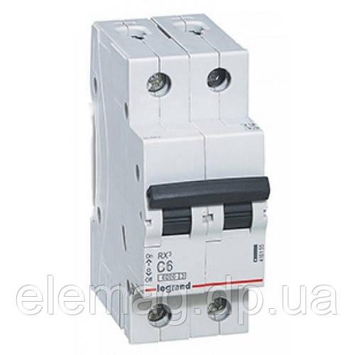 Автоматический выключатель 2 полюса 32A тип C 4,5кА Legrand серии RX³