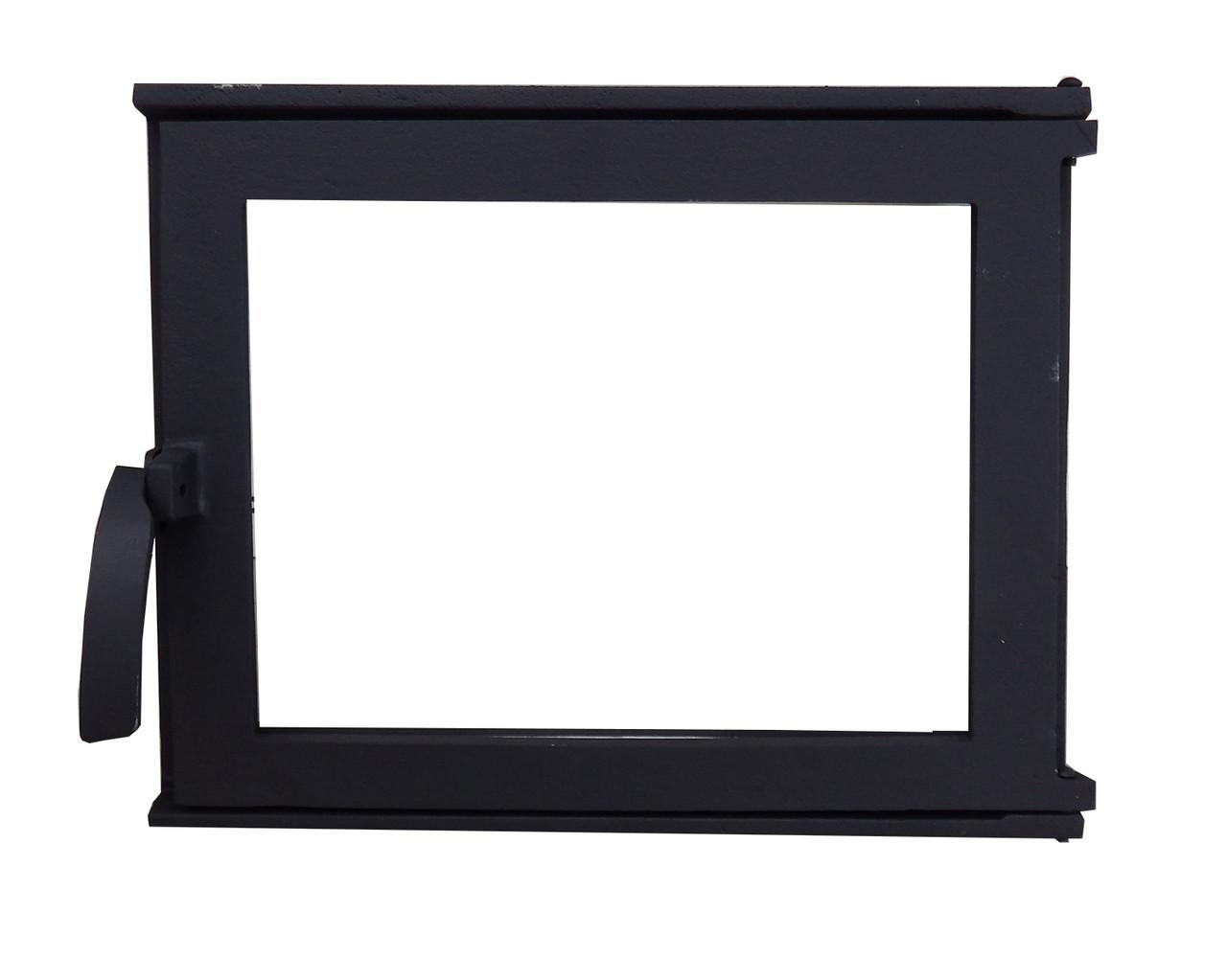 Дверка каминная стеклянная -VVK (36,5 х 31 см/33 х 27 см)