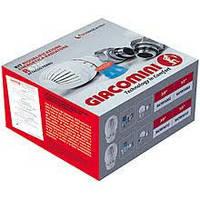 Комплект кранов для радиатора с термоголовкой Giacomini
