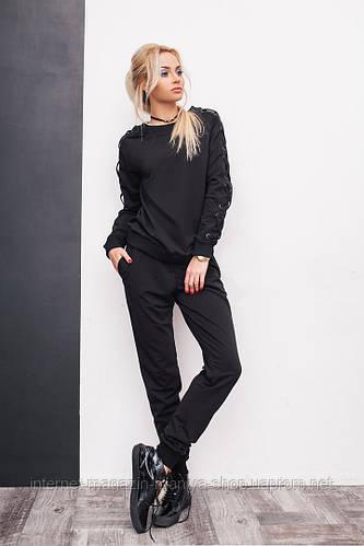 Костюм женский кофта и штаны шнуровка манжет