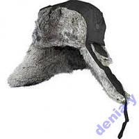 302766  Шапка-ушанка на нат. меху (черная) NORFIN