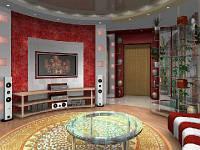 Дизайн-проект круглой комнаты № 63