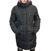 Зимняя женская куртка оптом черного цвета