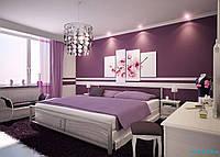 Интерьер спальни в фиолетовых тонах № 64