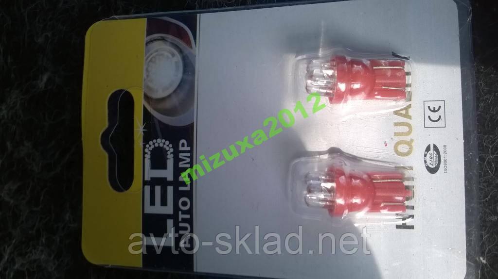 Светодиоды бесцокольные 3 диода красный габаритов
