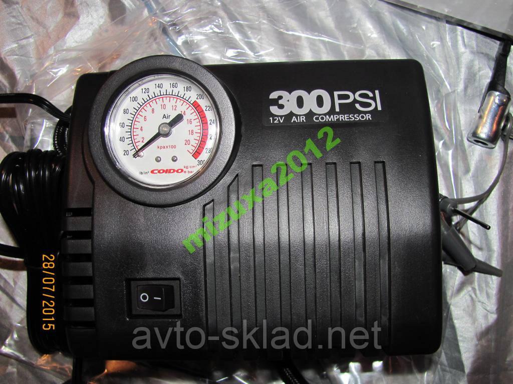 Компресор авто COIDO 2102 (300psi) манометр