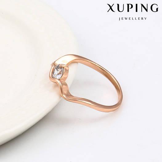 Кольцо 13875 размер 20, белый фианит, позолота РО