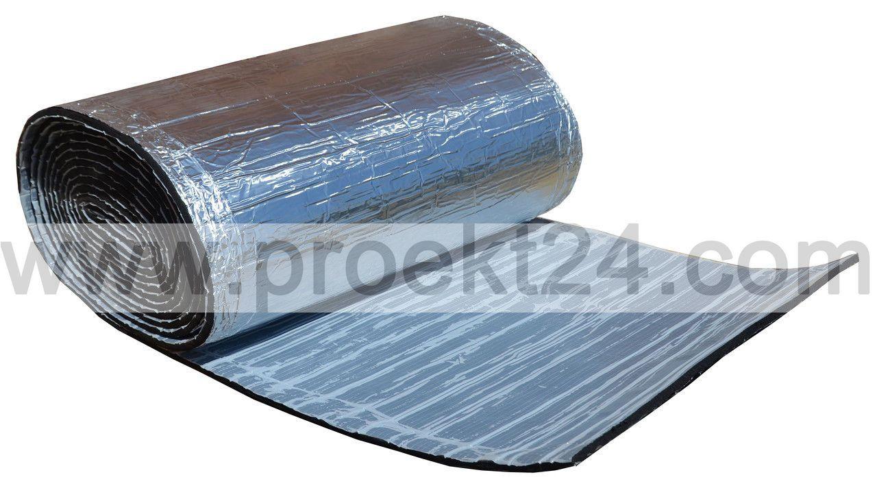 Вспененный каучук 19мм самоклеющийся фольгированный (утеплитель, шумоизоляция)