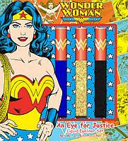 """Набор жидких подводок для век """"Чудо Женщина"""" Wonder Woman An Eye for Justice Liquid Eyeliner Set 3 шт, фото 1"""