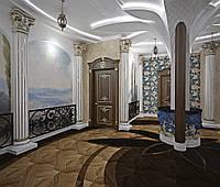 Холл с архитектурными полуколонами № 65