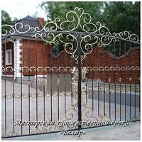 Ворота кованые (откатные, распашные), калитки