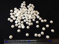 Жемчуг пластиковый пришивные цвет белый (medium) 50 шт