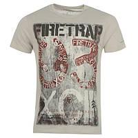 Модная стильная футболка Firetrap 93 Grey