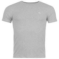 Стильная однотонная мужская футболка Lonsdale Grey M L