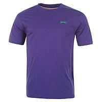 Однотонная мужская футболка Slazenger Purple котон