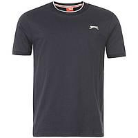 Однотонная мужская футболка Slazenger Navy котон