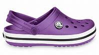 Женские пляжные Crocs Classic Crocband, кроксы фиолетовые