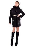 Женское теплое зимнее кашемировое пальто арт. Акра зима песец Турция 4376