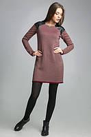 Вязаное жаккардовое платье-туника 1077