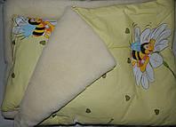 """Одеяло на меху с подушкой """"Пчелка"""". Украина"""