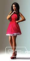 """Стильное молодежное платье мини """" Мелкий горох фатин """" Dress Code"""