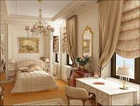 Дизайн элитной комнаты в золотых тонах № 68