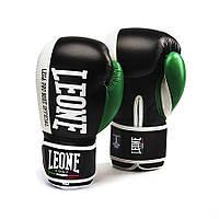 Боксерские перчатки из натуральной кожи 14 oz Contender Leone черный