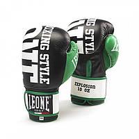 Боксерские перчатки, натуральная кожа 10 oz Explosion Leone черный