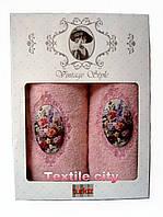 Набор махровых полотенец 70*140 см+50*90 см 2 шт/уп  Vintage style TURKIZ