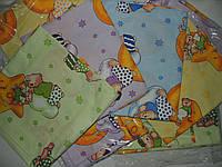 Детское постельное белье для садика 3в1, сатин, 110х140 см.