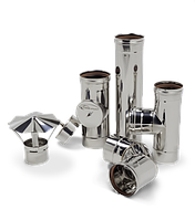 Дымоходные трубы из нержавеющей стали 321 ( 0,8 / 1 мм)