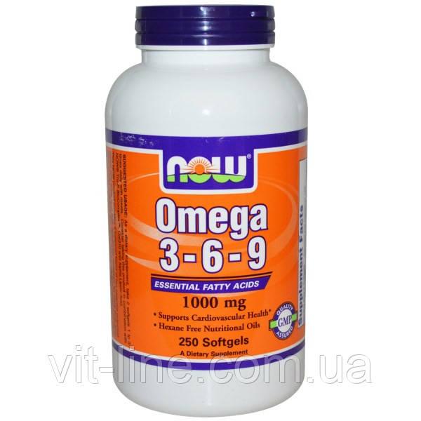 Омега 3-6-9 от Now Foods (1000 мг) 250 капсул