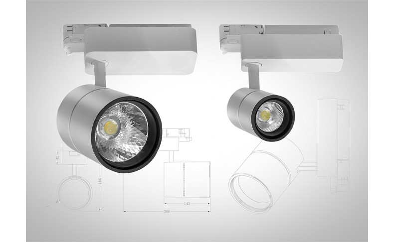 Светодиодный трековый светильник LEDLIFE 20Вт FOOD