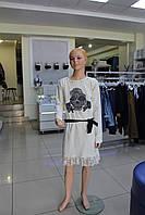 Платье детское подростковое MISS SIXTY с принтом и кружевом