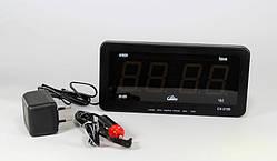 Часы электронные CX 2159 green+ машинная зарядка (LED индикация)