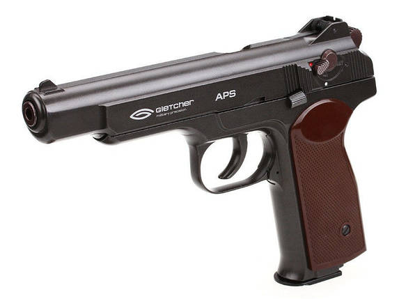 Пневматический пистолет Gletcher APS (BlowBack). Автоматический Пистолет Стечкина, копия. , фото 2