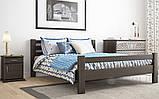 Ліжко півтораспальне з натурального дерева в спальню, дитячу 140х200 Елегант ДОК, фото 5