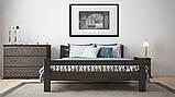 Ліжко півтораспальне з натурального дерева в спальню, дитячу 140х200 Елегант ДОК, фото 8