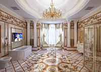 Ванная комната с колонами № 70
