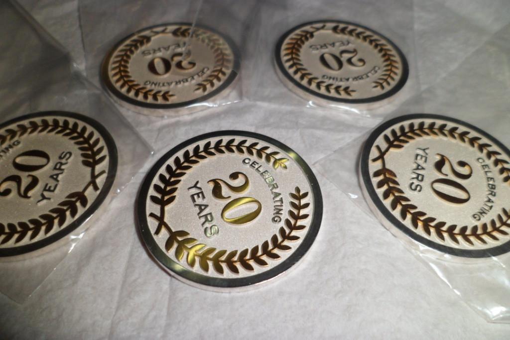 Медали юбилейные, сувенирные, корпоративные из золота и серебра. 5
