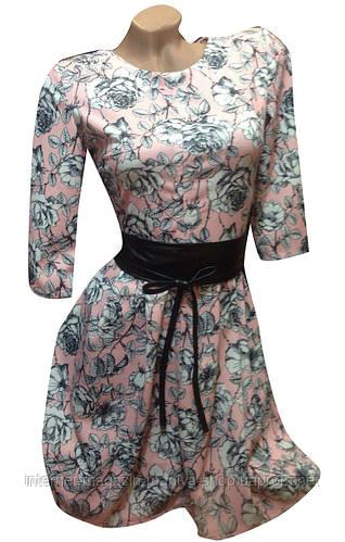 Платье женское розочка