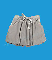 Юбка детская MIRTILLO велюр серый