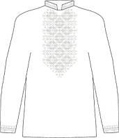ЧСВЛ-23. Заготовка Чоловіча сорочка лляна сіра