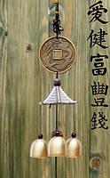 3 литых колокольчика фен-шуй на входную дверь L-40 см №7