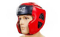Шлем боксерский в мексиканском стиле FLEX ELAST VL-6247-R (красный-черный, р-р M-XL)
