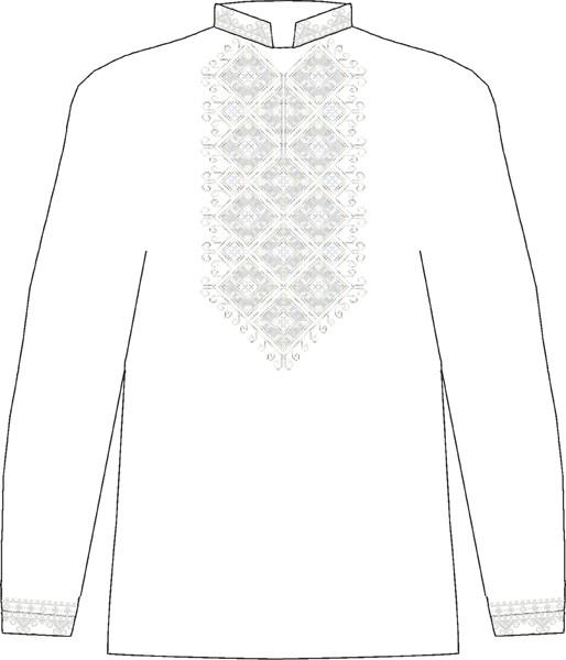ЧСВБ-23. Заготовка Чоловіча сорочка лляна біла