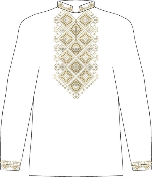 ЧСВБ-24. Заготовка Чоловіча сорочка лляна біла